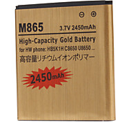 M865-GD 2450mah Cell Phone Battery for HUAWEI C8650 U8650 HB5K1H MB65