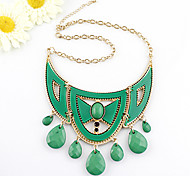 European Style Water Drop Pendant Choker Necklace