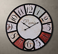 """H23"""" Country Retro Style Metal Wall Clock"""