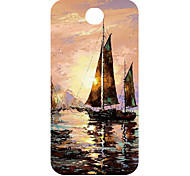 Fishing Boat Design Pattern 3D Carving Plastic Back Cover for Samsung S3 I9300