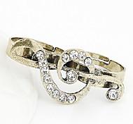 Fashion Music Symbol Double Split Ring