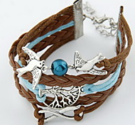 Fashion Leather With Bird Bracelet