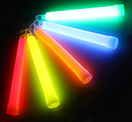 Outdoor Multicolor Chemical Liquid 6 Inch Glow Stick Light with Hook for SOS or Party(12h-24h,Random Color)