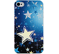 Ручная роспись Пятиконечная звезда Назад Чехол для iPhone 4/4S