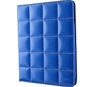 azul brillante celosía diseño de la cubierta 3 posición de protección estuche de cuero de la PU para ipad2/3/4