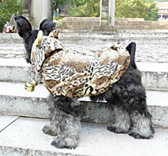 Cute Leopard Prints Warm Coat with Hoodie for Pets Dogs (Assorted Sizes)