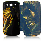 Skull Porker Leather Case for Samsung Galaxy S3 I9300
