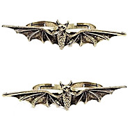Anéis em forma de morcego