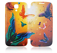 Vlinder Full Body Leather Case voor Samsung Galaxy S4 I9500