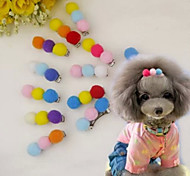 Colorful Plush Style Hairpin for Pets Dogs(Random Color)