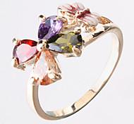 Bague fleur cristal