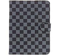Tartan-Muster PU-Leder-Schutzhülle Verfügbar für 8-Zoll-Tablet