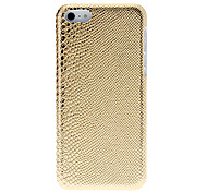 Brillanti modello Snakeskin cassa dura del PC per il iPhone 5C (colori assortiti)