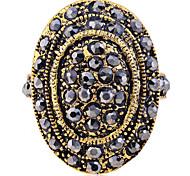 lureme®vintage cristais cheios anel oval