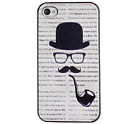 Tobacco Pipe Pattern PC Hard Case with Black Frame for iPhone 4/4S