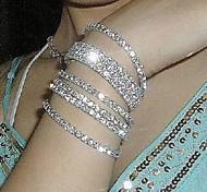 Fashion Rhinestones Stretch Bracelet