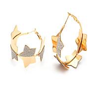 plaqué or véritable u7® 18k nouvelles boucles d'oreilles étoiles
