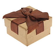 Square Bowknot Paper Rings Boxes
