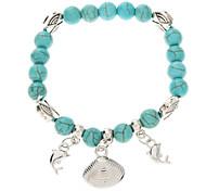 Vintage Style Bohême Turquoise Chain Bracelet en perles