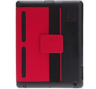 Colore custodia protettiva solido con controllo audio per iPad 2/3/4