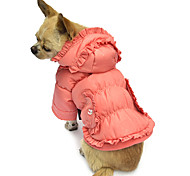 Dog Coat / Hoodie Pink Dog Clothes Winter Solid
