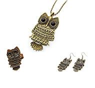 women's European Style Owl Jewelry Set