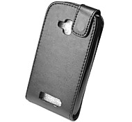 Black  Elegant Ultra-thin PU Leather Case for Nokia Lumia 610 3.7Inch Screen Phone