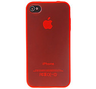 Transparent TPU Hard Case for iPhone 4/4S (Assorted Colors)