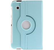 "360 ° Rotary Back Cover PU-Leder-Beutel + Stylus für Samsung Galaxy Tab 2 P3100/P3110 (7 "")"