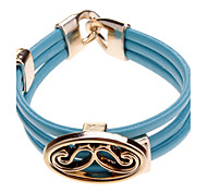 (1 Pc) Sweet 6cm Women'S Mustache Leather Wrap Bracelet