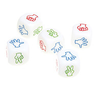 5pcs ABS White Gesture Patterns Dices