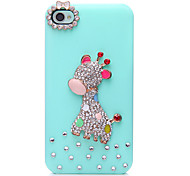Giraffe Pattern Metal Jewelry Back Case for iPhone 4/4S