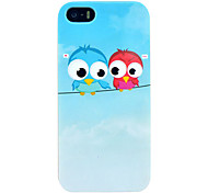 For iPhone 5 Case Pattern Case Back Cover Case Owl Hard PC iPhone SE/5s/5
