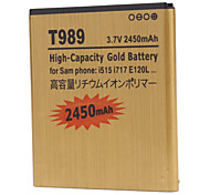 2450mah Cell Phone Battery for Samsung T989