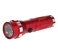 LED Flashlights/Torch / Handheld Flashlights/Torch LED 1 Mode Lumens 5mm Lamp AAA Everyday Use - Others , Red Aluminum alloy