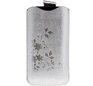 Flower Pattern Protective PU Leather Overlocking Pouch Case for iPhone 5/5S(Assorted Color)