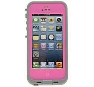 2-in-1 Airtight Waterproof Protective Pink Full Body Case with Cleaning Cloth for iPhone 5/5S