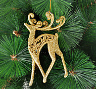 Christmas Decoration Goledn Moose Ornament