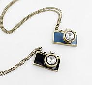 Мода камера Стиль цинковый сплав с Rhinestone ожерелье (больше цветов)