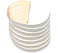 (1 Pc)Fashion Women's Gold Alloy Cuff Bracelet