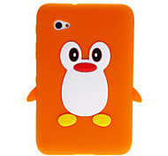 3D Leuke Pinguïn Cartoon Soft Silicone Case Cover voor de Samsung Galaxy Tablet Tab 2 7.0 P3100