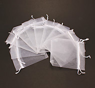 (10pcs)Classic White Grenadine Jewelry Bags For Jewelry