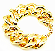 Fashion Unisex Thick Acrylic Chain & Link Bracelet(Gold,Silver)