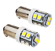 Ba9s 1W 10x3528SMD 70-90LM 6000K Cool White Light LED Bulb (12V) 2Pcs