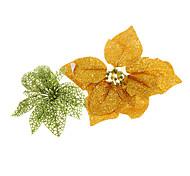 Glitter Flor Decoração de Natal enfeites de natal (cor aleatória)