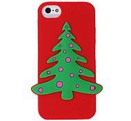 Weihnachtsbaum Silikon Tasche für iPhone 5/5S (Farbe sortiert)