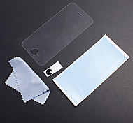Tempered Glass Protective Transparent Front Screen Film with Home Button Sticker and Cleaning Cloth for iPhone 4/4S