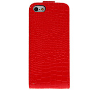 Stylish Crocodile Stripe Pattern Flip-Open Full Body Case for iPhone 5/5S (Assorted Colors)