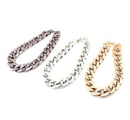 European Multicolor Alloy Chain Necklace(Gold,Silver,Black) (1 PC)