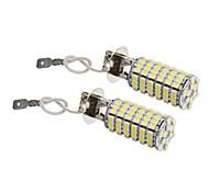 H3 8W 118x3528SMD 660LM 5500-6500K Cool White Light LED Bulb for Car (12V,2pcs)
